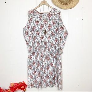 """Vintage RTW """"Made in USA"""" drop waist floral dress"""